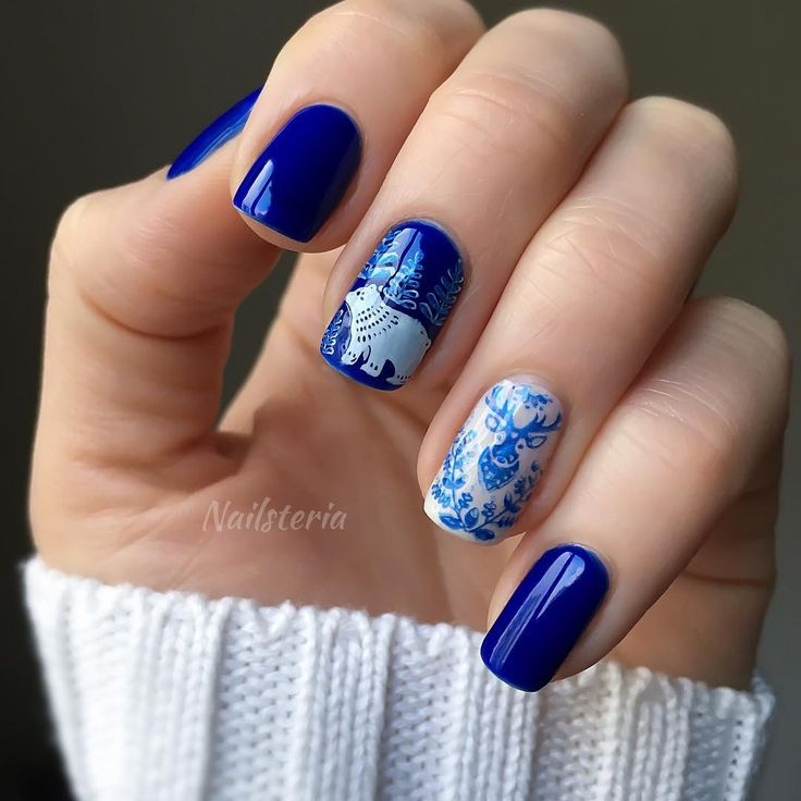 "73 kedvelés, 5 hozzászólás – Tanya • Nail Art Tutorials (@nailsteria) Instagram-hozzászólása: ""Hello winter! ⛄️ For this design I used new(for me )product, it's called foil polish for stamping…"""