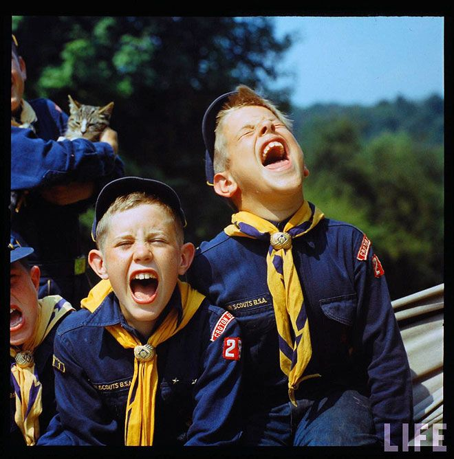 boy scouts by life magazine.