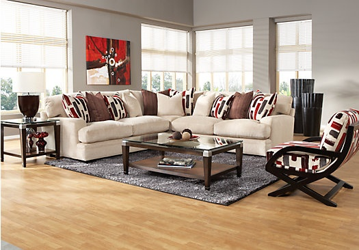 shop for a cindy crawford home brighton park 5 pc sectional living