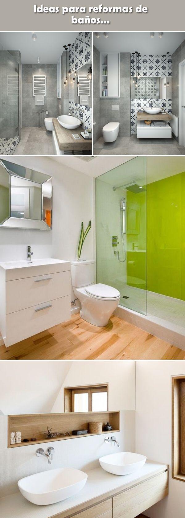 Reformas de baño. Ideas para baños. Paredes de baño. Sueños para cuartos de baño. Sanitarios y accesorios de baño.