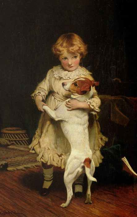 Charles Burton Barber (1845-1894): My First Partner