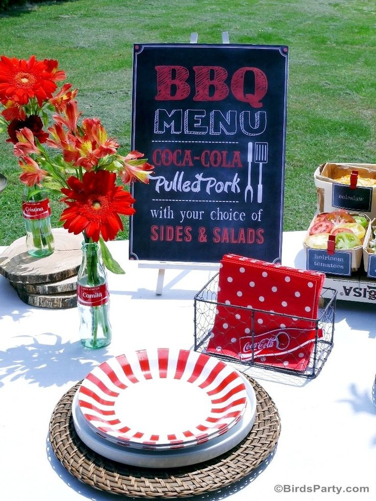 BBQ Grilling Cookout Party Printables Supplies & Decorations