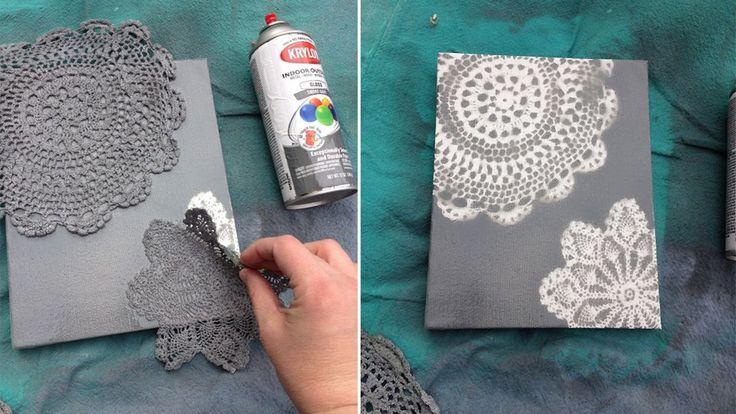 Faire-part DIY napperons