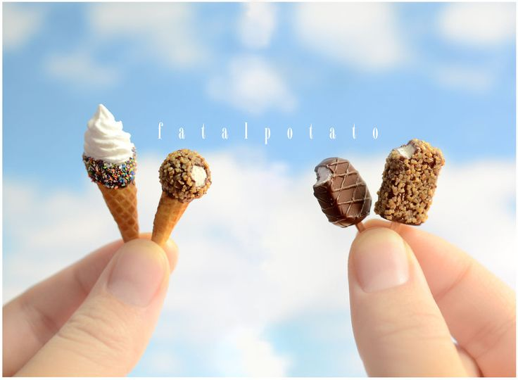 miniature ice cream IV by FatalPotato.deviantart.com on @deviantART