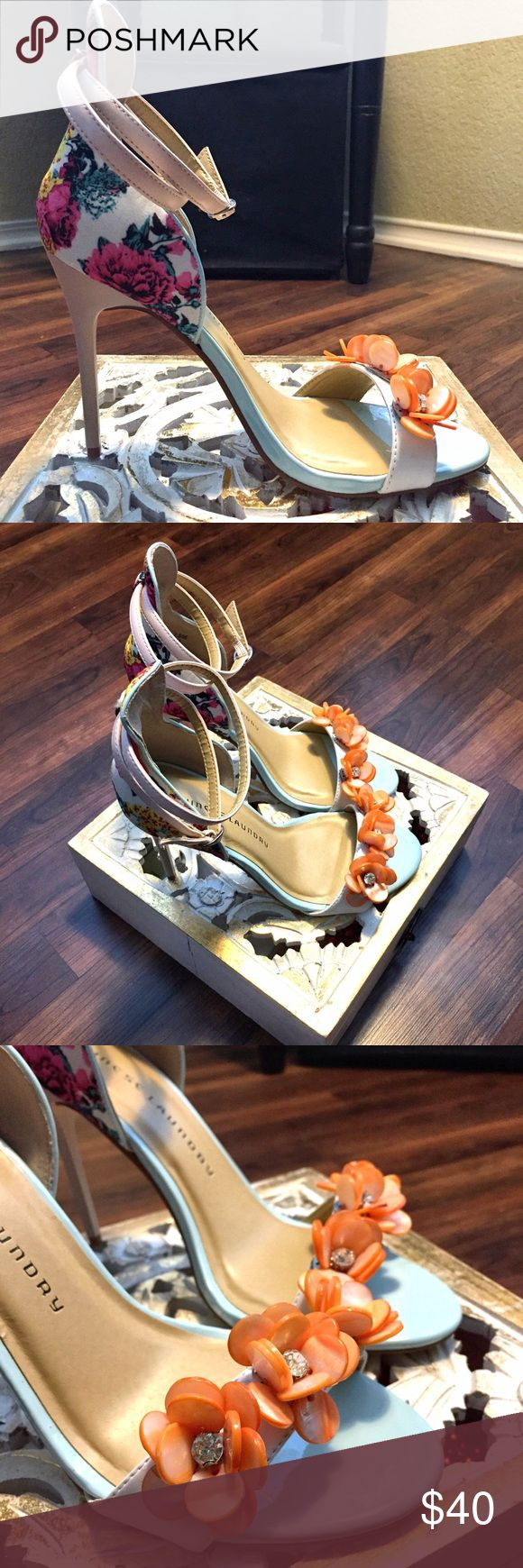 Chinese Laundry Multicolored Floral Heels Beautiful Chinese Laundry Floral Heels Chinese Laundry Shoes Heels