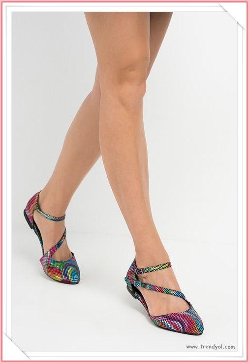 e2e174ed99b7b Yeni Babet Modelleri 2018 Lookbook   Ayakkabı Modelleri   Babetler,  Ayakkabılar, Model