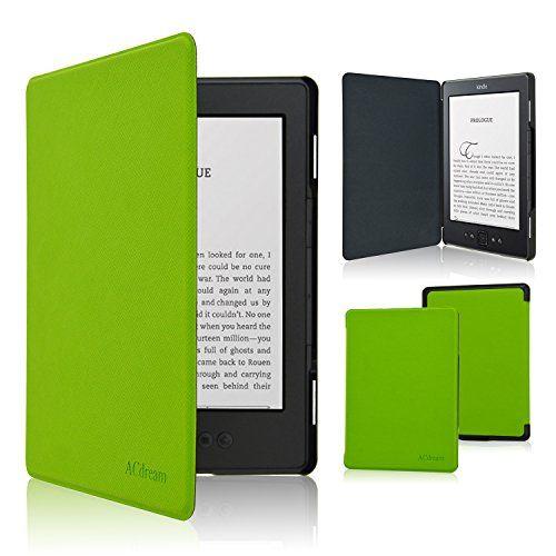 Accover Étui ultra fin en cuir pour Amazon Kindle avec fermeture magnétique: Conçu spécialement pour Kindle Fonction mise veille/marche…
