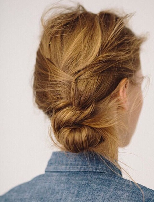 how to make a messy side bun with medium hair