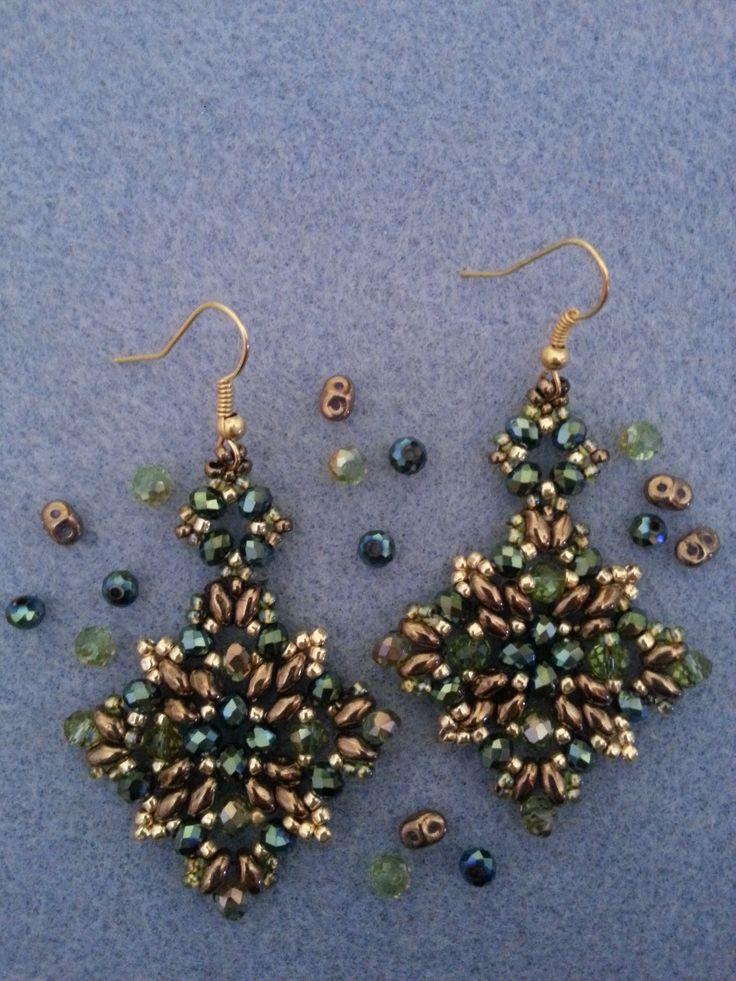 DIY Tutorial: Orecchini perline superduo - DIY Tutorial: Earring beads s...