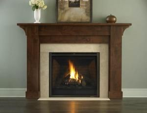 We need a mantle for our gas fireplace - I like the dark wood