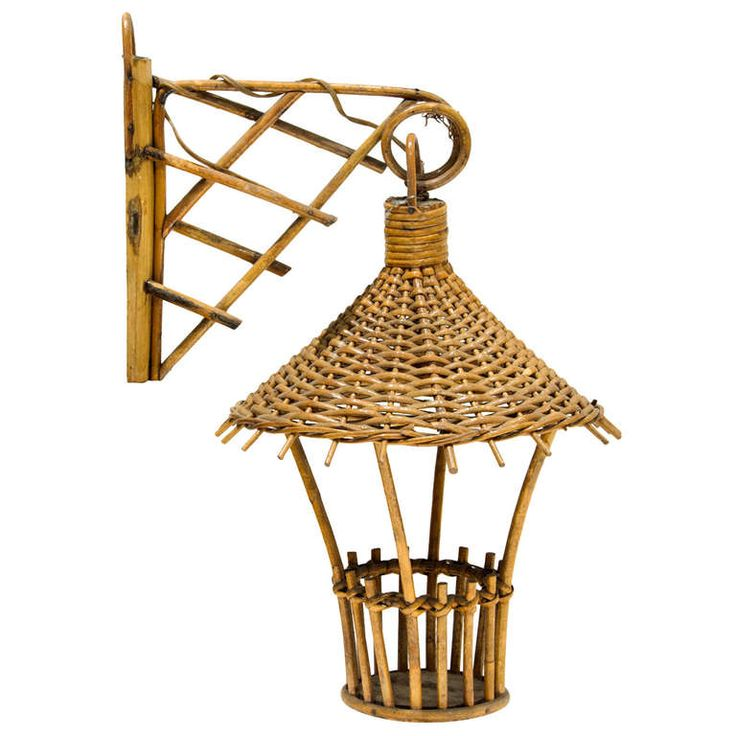 Small Rattan Sconce   From a unique collection of antique and modern wall lights and sconces at https://www.1stdibs.com/furniture/lighting/sconces-wall-lights/