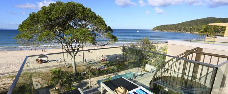 Seahaven Noosa Resort beach view from penthouse top