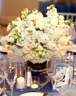 beautiful white flower centerpiece
