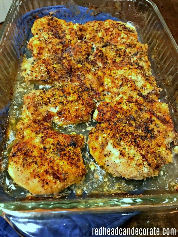 """This """"Chicken Loretta"""" recipe is the most tender flavorful chicken I have ever made so easily!"""