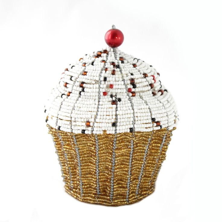 Beaded cupcake from Africa.