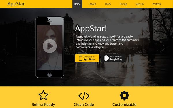 #template #bootstrap #responsive #App #website AppStar Responsive Landing Page Theme >>