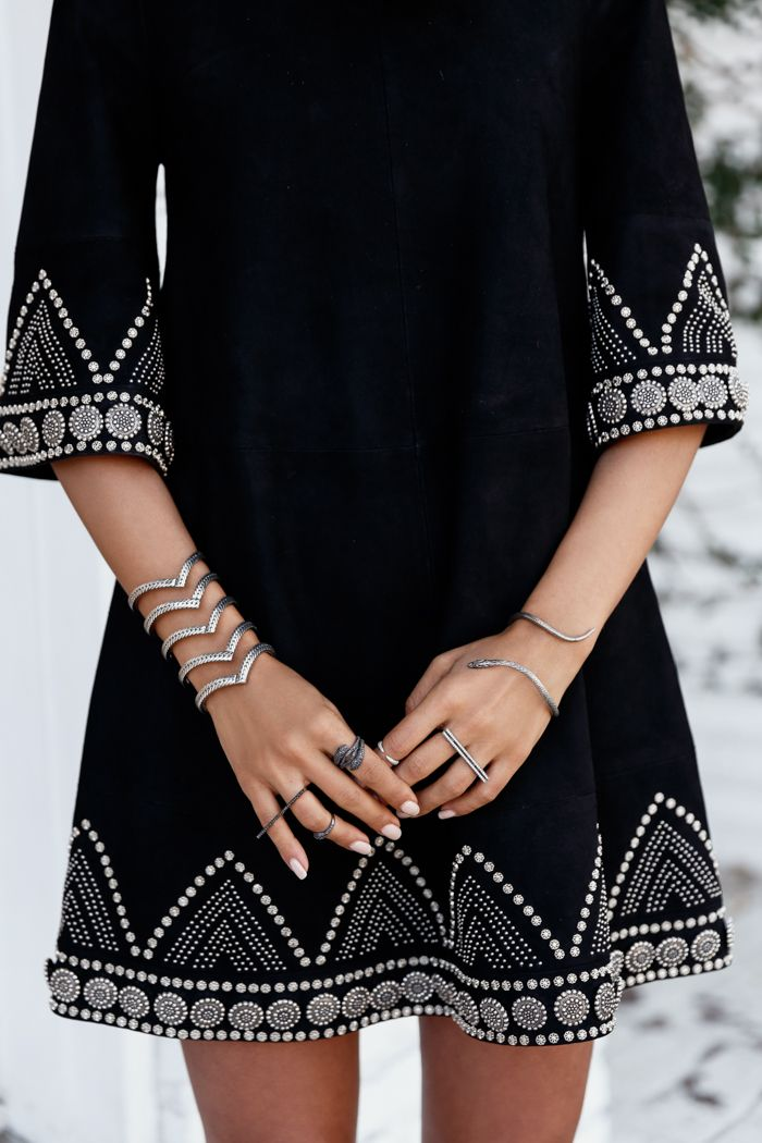 VivaLuxury - Fashion Blog by Annabelle Fleur: BLACK OUT - DODO BAR OR Scarlett dress, PAULA CADEMARTORI bag, ELODIE K. jewelry, ILLESTEVA sunglasses all thanks to ELODIE K. September 7, 2015