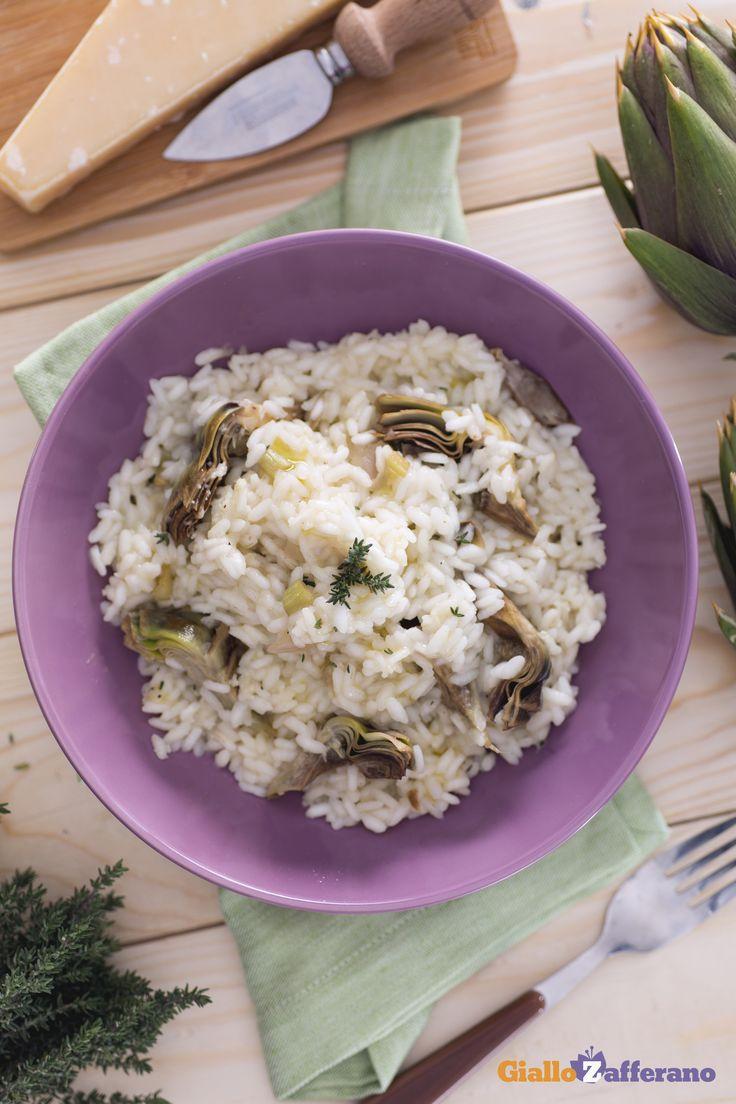 Questa raffinata versione del risotto con i #carciofi è adatta anche in un'occasione speciale, magari accompagnato da un buon vino bianco fermo! #ricetta #GialloZafferano #italianfood #italianrecipe #italianrisotto