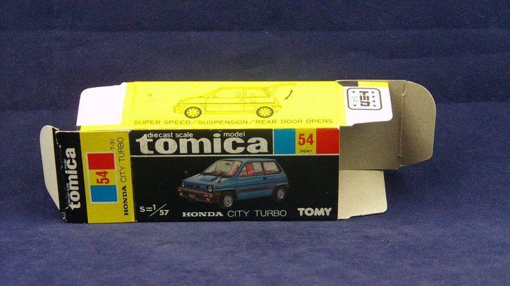 TOMICA 054D HONDA CITY TURBO   1/57   ORIGINAL BOX ONLY   1984-1984 JAPAN   RARE