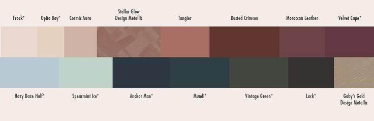 Dulux Romantic Spirits colour strip