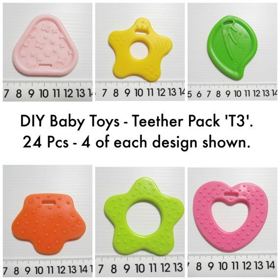 Baby Teether DIY Toy Making. Non Toxic. 24 Pieces.Mixed Colours Pack 'T3'. AUD 8.00 Worldwide Postage! Baby Toy Supplies.