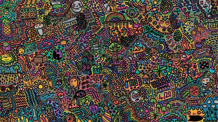 wallpaper desktop psychedelic art, Viola Jacobson 2016-10-07