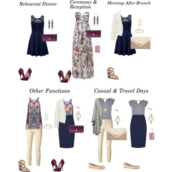 Wedding Weekend Travel Capsule Wardrobe- Outfit Ideas