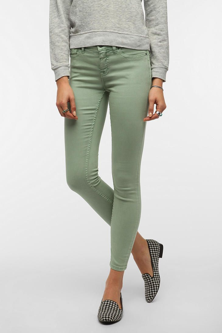 Green Mint skinny jeans urban outfitters pictures