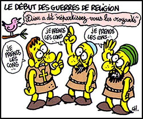 Le début des guerres de religion :)
