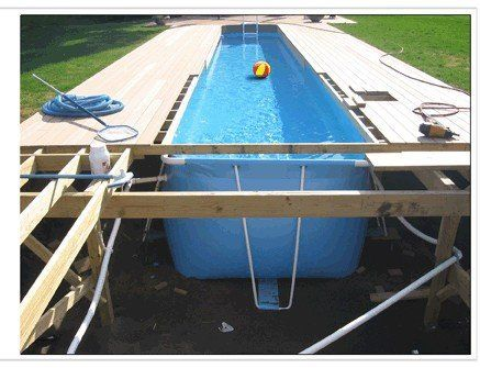 piscina port til buy product on backyard