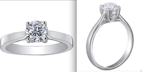 Petite Tapered Trellis Plus Ring