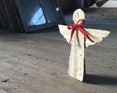 Christmas Angel Shelf Decoration- Christmas Decoration Angel made from reclaimed rusty corrugated metal