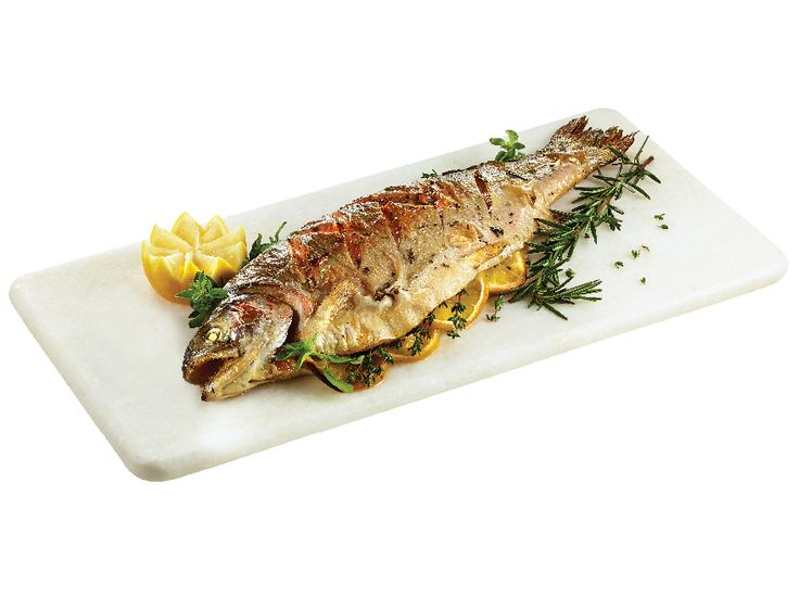 Lemon-Herb Baked Whole Rainbow Trout from #YummyMarket Holiday Menu