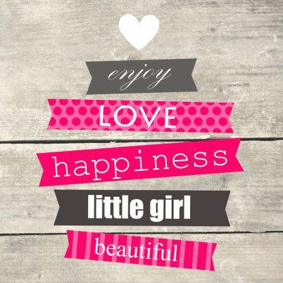 Houtprint met tekst, meisje - Felicitatiekaarten - Kaartje2go