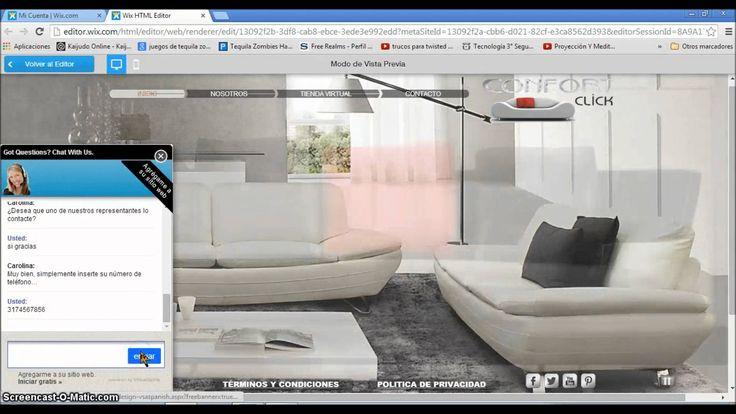 Diseño para pagina web confort click store. Este diseño esta disponible para adaptar de acuerdo a la solicitud del cliente.