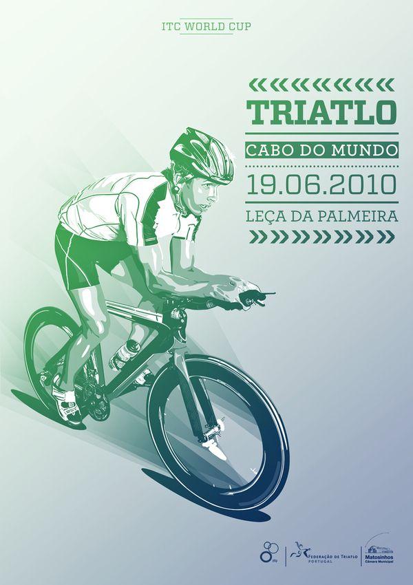Triathlon Event by Hugo Magalhães, via Behance