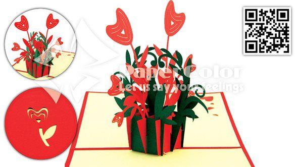 3D Pop up card, Pop up greeting card, 3D Popup card, Handmade greeting card, Kirigami card, Pop-up card