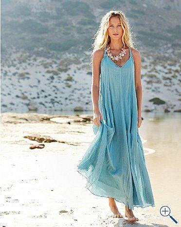 Cotton gauze long dresses