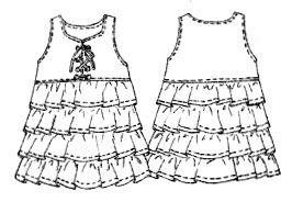 построение выкройки детских платьев.