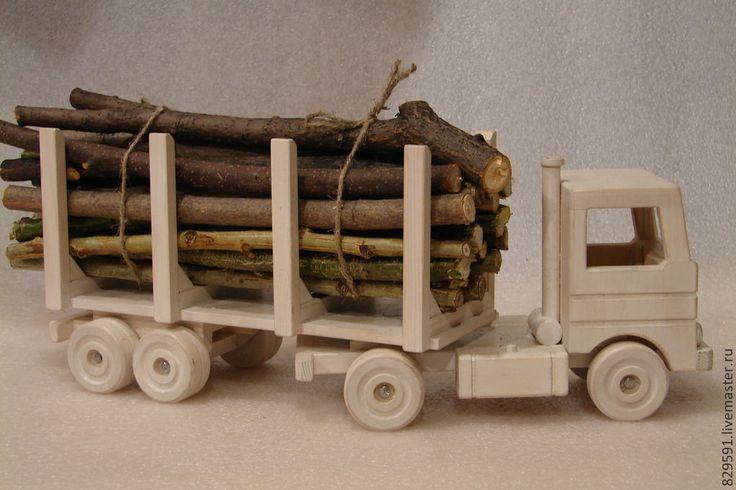 Купить камаз-лесовоз - белый, лесовоз, игрушка, автомобиль, подарок на день рождения, подарок мужчине