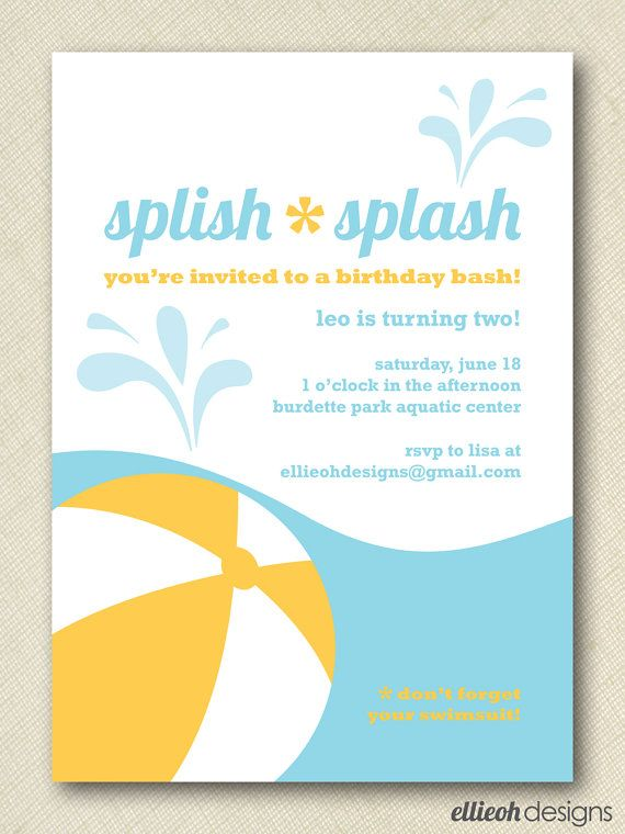 54 best Pool Party Invitations images on Pinterest Pool party