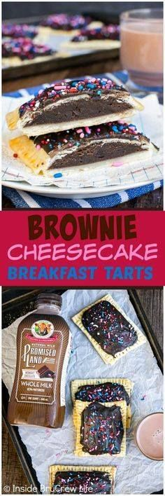 Brownie Cheesecake B Brownie Cheesecake Breakfast Tarts -...  Brownie Cheesecake B Brownie Cheesecake Breakfast Tarts - chocolate frosting and a soft brownie center makes these tarts a fun way to start the day. Easy breakfast recipe for busy mornings!#promisedlanddairy #baking #breakfast #ad #chocolatemilk Recipe : http://ift.tt/1hGiZgA And @ItsNutella  http://ift.tt/2v8iUYW