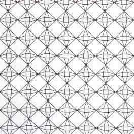 Tissu en cretonne 100% coton motif diamant
