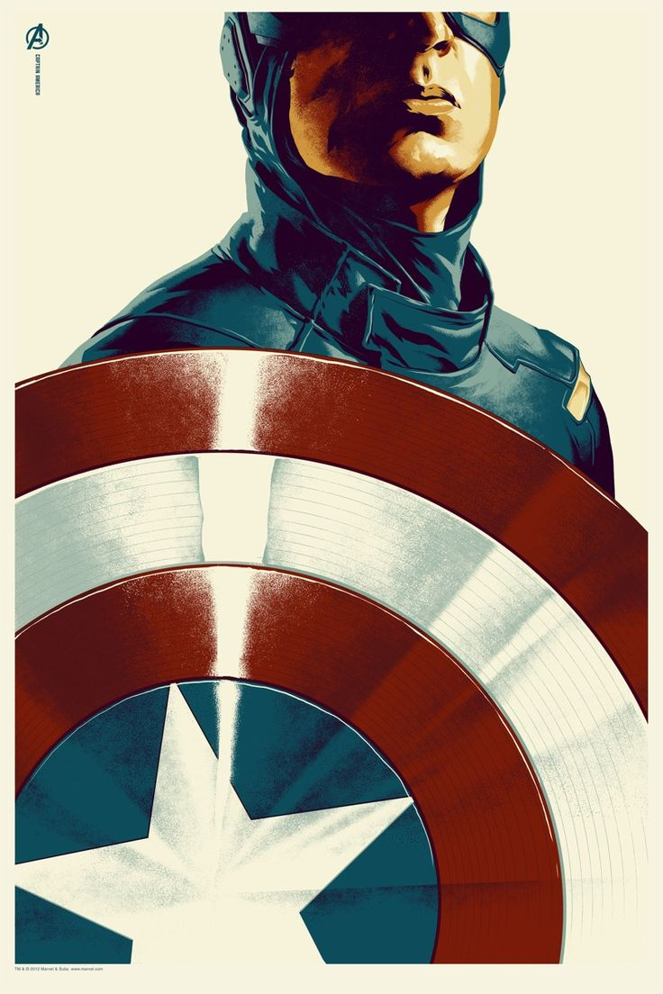 Captain America - poster by Mondo: Movie Posters, Head Of Garlic, Captainamerica, Captain America, Posters Design, Super Heroes, Irons Men, The Avengers, Superhero