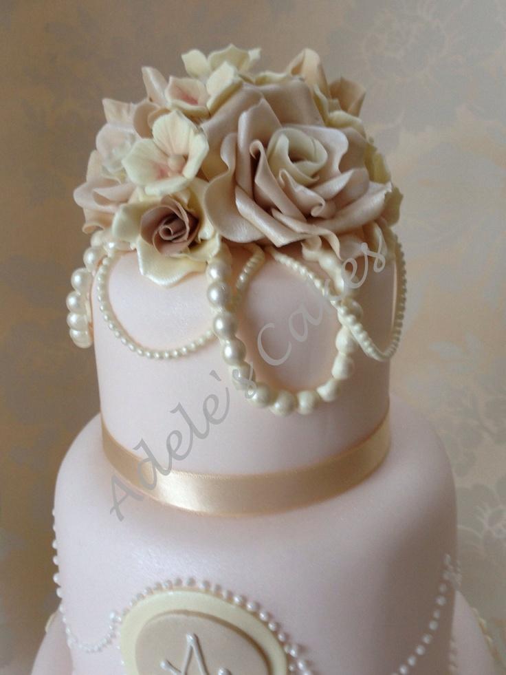 Vintage wedding cake Northern Ireland wedding cakes