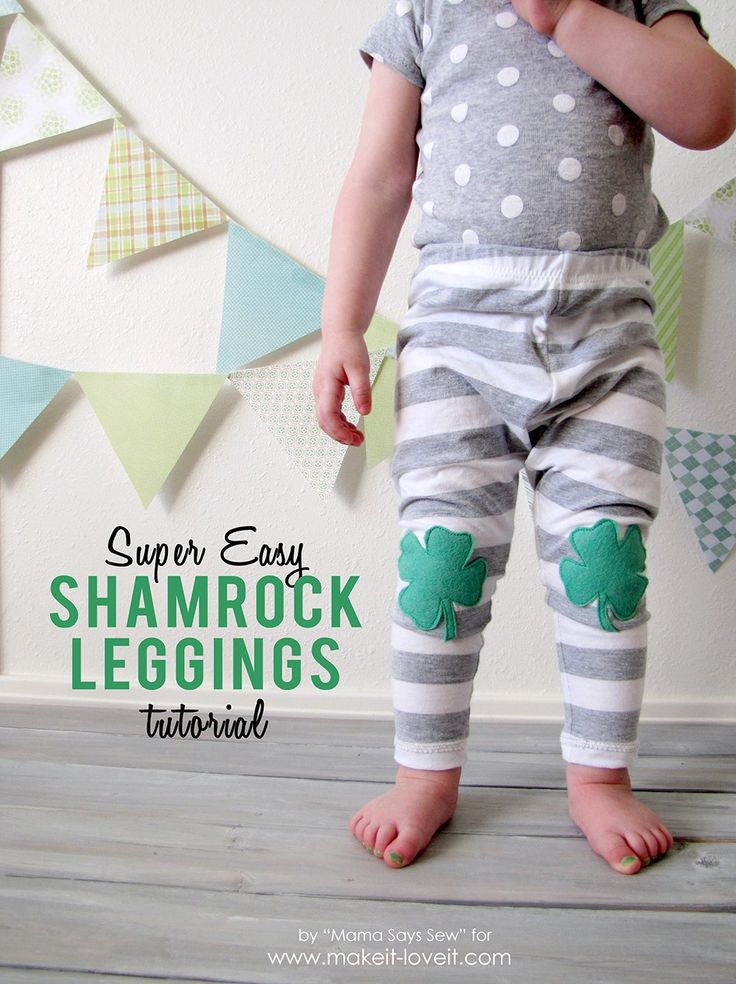 This easy shamrock leggings tutorial is the perfect way to make a basic pair of leggings into something special for St Patrick's day this year.