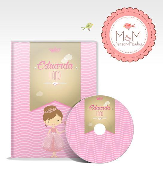 DVD + Capa Personalizados - Princesa