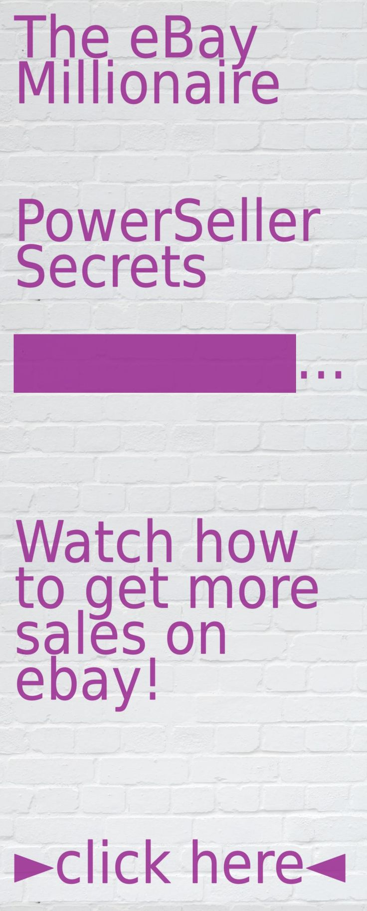 Learn secrets of ebay selling, get more exposure and sell more items thanks to this simple method: https://www.youtube.com/watch?v=-KcxwcDFfN8