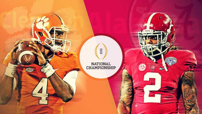 Here's how to live stream Clemson vs. Alabama in the college football playoffs National Championship game tonight.