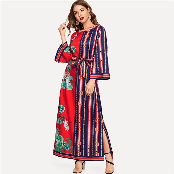 b4de641a73 Hey! this is best time to upgrade your spring fashion with - Flounce Sleeve  Bohemian Elegant Maxi Dresses. Shop now and enjoy our exclusive spring  offers!